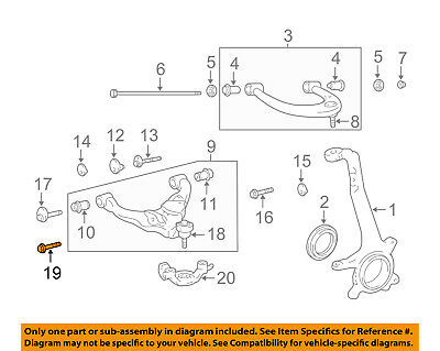 TOYOTA OEM Front Suspension-Strut Mount Nut 90178A0004