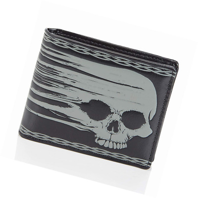 Shagwear Mens Wallet: Various colors and designs: (Smeared Skull)