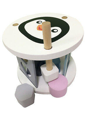 Baby's Wooden Shape Sorter Toy By Magni