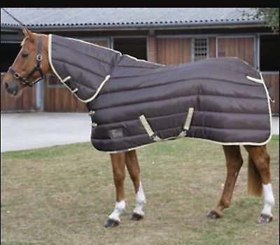 Shires Tempest 300 Heavyweight Combo Stable Rug Full Neck Brown/Beige