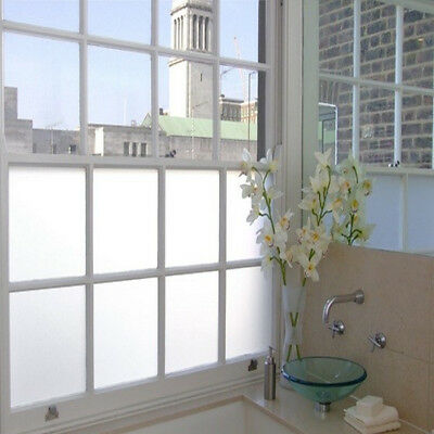 Plain and Pinstripe Frosted Glass Privacy Window Film 67cm x 2m