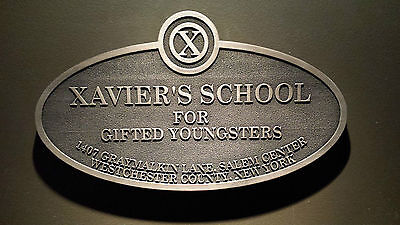 x-men xaviers school sign plaque replica days of future past marvel