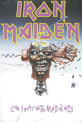 Iron Maiden Flagge Fahne Posterflagge Can I Play With Madness