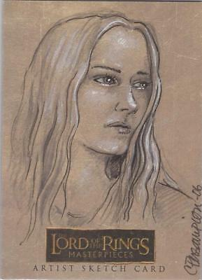 """Lord of the Rings Masterpieces -  Connie Persampieri """"Eowyn"""" Sketch Card"""