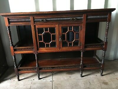 small victorian/ georgean sideboard with bevelled Glass doors