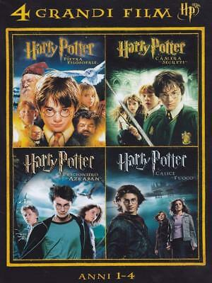 Dvd 4 Grandi Film Harry Potter Cofanetto 4 Film Anni 1 -4 Italiano Sigillato