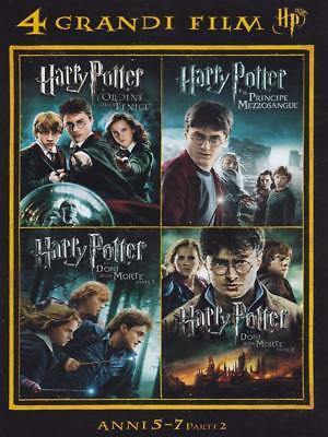 Dvd 4 Grandi Film Harry Potter Cofanetto 4 Film Anni 5 - 7 Italiano Sigillato