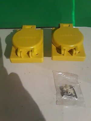 (2) Hubbell Wiring Device 39AW71 * Value Bundle of 2* Kellems Yellow HBL69w48