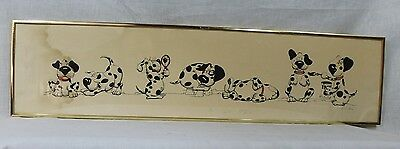 Dalmation Puppies Caricature Picture Signed & Numbered by Anne E. London