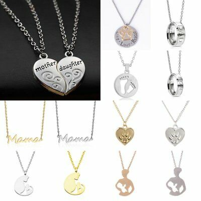 Fashion Heart Round Hollow Carved Letters Pendant Necklace Mother's Gift Jewelry