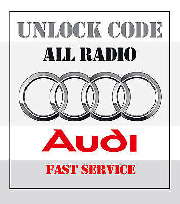 Audi Car Stereo Radio Unlock Code Decode A2 A3 A4 A6 A8 S3 Rs3 S4 Rs4 S6 Rs6 Tt