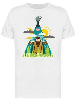 Harmony Living Graphic Men's Tee -Image by Shutterstock