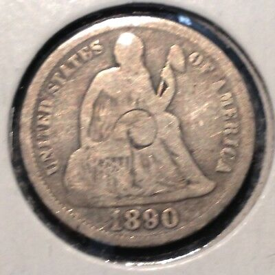1890    Liberty Seated Dime