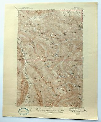 Mount Angeles Washington Vintage 1946 USGS Topo Map Port Angeles Topographic