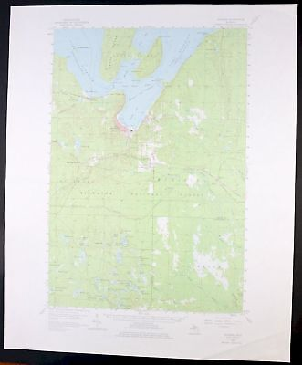 1958 Munising Michigan Original 15-minute USGS Topo Topographic Map Grand Island