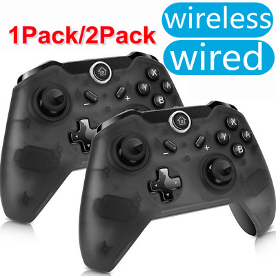 2 Pack Wireless / Wired Pro Controller Gamepad Joypad Remote for Nintendo Switch