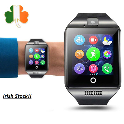 Bluetooth Smart Watch Android Sim Card Pedometer Camera Q18 Tracker Sport Fitbit