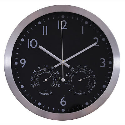 "12"" Wall Clock Large Numbers Easy Read Set UP Battery Operated"