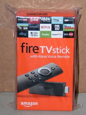 Amazon Fire TV Stick w/Alexa Voice Remote (2nd Gen), Brand New, Dented Package