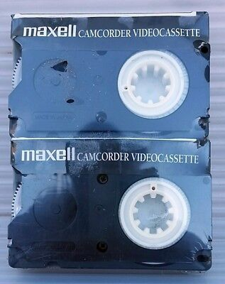Maxell Camcorder Videocassette,  two (2) pack