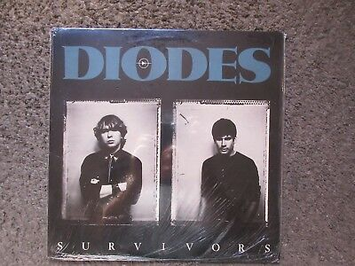 "THE DIODES ""SURVIVORS"" 1982 1st PRESS RARE CANADIAN IMPORT NM/NM IN SHRINK OOP"