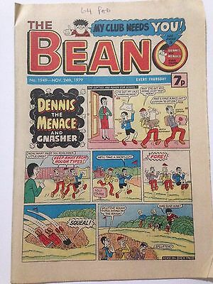 DC Thompson THE BEANO Comic. Issue 1949 November 24th 1979 **Free UK Postage**