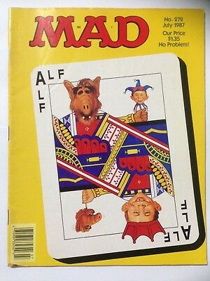 MAD Comic. US Edition Dated July 1987 Issue 272. ALF Cover **Free UK Postage**