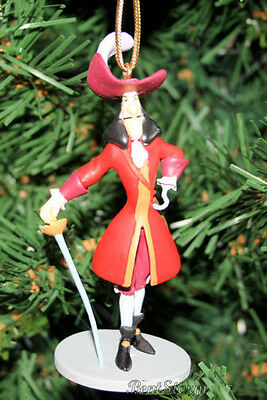 Disney CAPTAIN HOOK SWORD Christmas Ornament PVC JAKE NEVERLAND PIRATE PETER PAN
