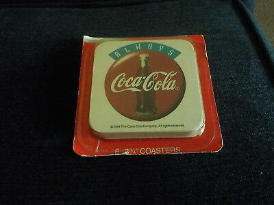 Coca-Cola Coasters  1994 New  Set of 6 Factory Sealed 3 3/4""