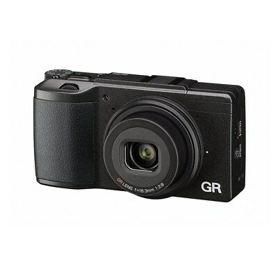 Ricoh GR II Digital Camera Full HD Video Recording Built-In Wi-Fi Hand Strap NEW