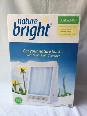 NatureBright SunTouch Plus 10,000 Lux Light & Ion Therapy Lamp Free Shipping!