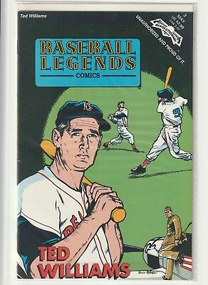 1992 Ted Williams Revolutionary Comic Book May #3 Baseball Legends