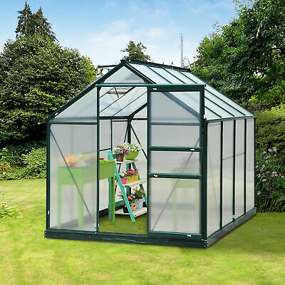 Polycarbonate Walk-In Garden Greenhouse Aluminum Frame Plant Hobby Outdoor