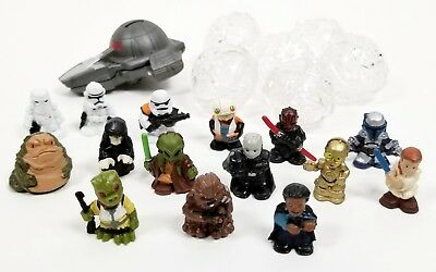 Lot of 15 Star Wars MICRO FORCE Figures Fett, Chewy, C3PO, Vader, Jabba, Sith