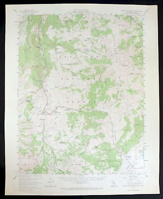 1956 Fales Hot Springs California Nevada Hoover Wilderness USGS Topo Map