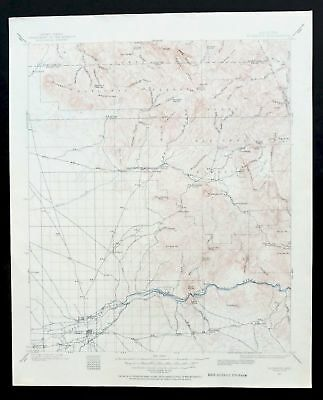 1900 Florence Arizona Vintage USGS Topo Map Gold Canyon Superior Superstition