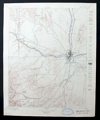 Pueblo Colorado Antique 1897 USGS Topo Map 30-minute Topographic