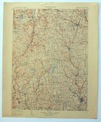 1904 Litchfield Connecticut New York Waterbury Antique USGS Topo Map