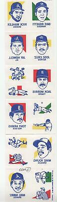 1986 Topps Tattoos #NoN New York Yankees Boston Red Sox Detroit Tigers Jose Cruz