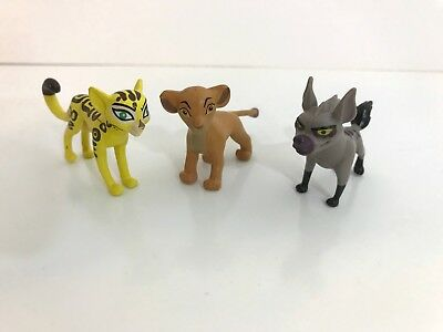 Disney Junior The Lion Guard Kiara, Janja Hyena, Fuli Cheetah 3 Small Figure Set