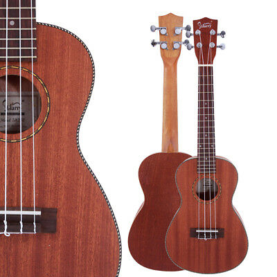 "New 23"" Concert Natural Color Sapele Soprano Practice Ukulele Hawaiian Guitar"
