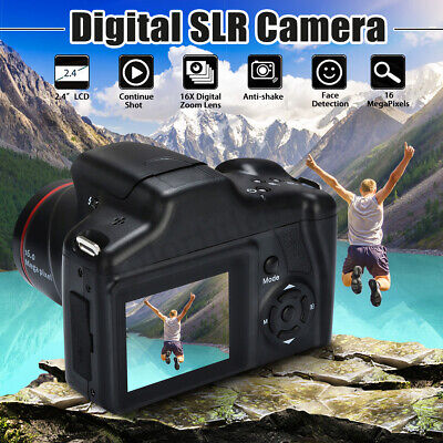 16MP 1080P 16X Zoom 2.4 Inch TFT Screen Digital Video SLR Camera Camcorder