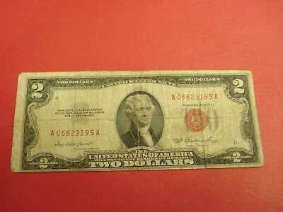 1953 - USA two dollar bill - $2 American note - A 06623195 A