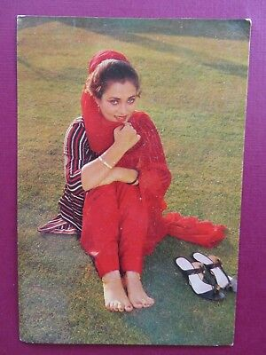 MANDAKINI bollywood actress Picture postcard Collection 15 x 10 cm Old