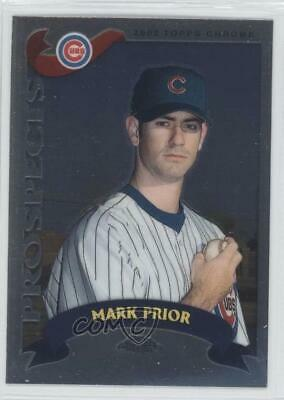 2002 Topps Chrome Traded & Rookies #T231 Mark Prior Chicago Cubs Baseball Card