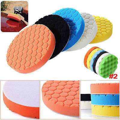 6 / 7 inch Car Polisher Sponge Polishing Waxing Buffing Foam Pads Kit Compound