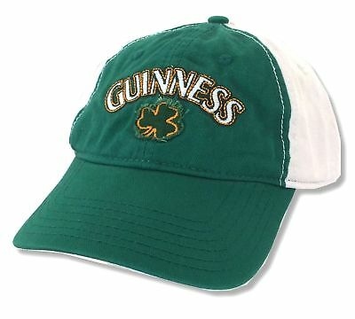 7308fa2a3695 Guinness Beer Clover Shamrock Green Baseball Hat Cap New Official  Merchandise