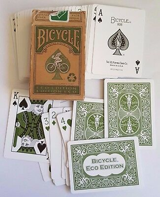 Bicycle ECO Edition Playing Cards from Sustainable Green Recyclable Collectible