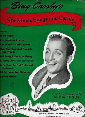 Bing Crosby Christmas.Bing Crosby Christmas Songs And Carols 39 Page Songbook 1945