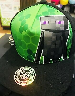 New Design Minecraft Enderman Christmas 2018 Hat Flat Cap Rare New Release